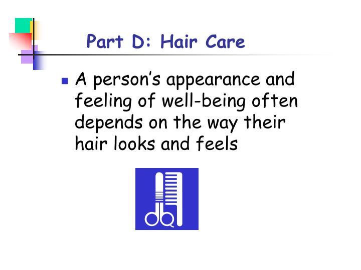 Part D: Hair Care