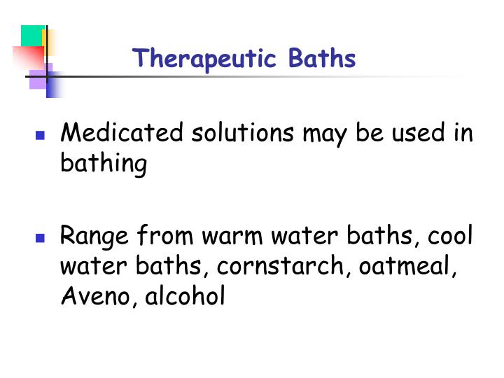 Therapeutic Baths