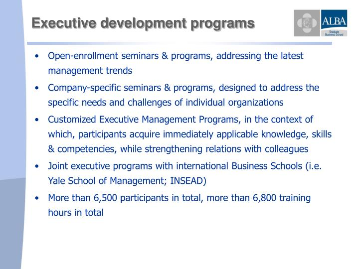 Executive development programs