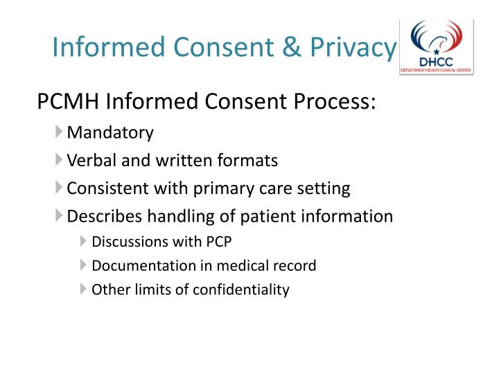 informed consent confidentiality and privacy at a hospital Understanding informed consent while such consent may be informal in day-to-day medical care to which confidentiality of records identifying you will be.