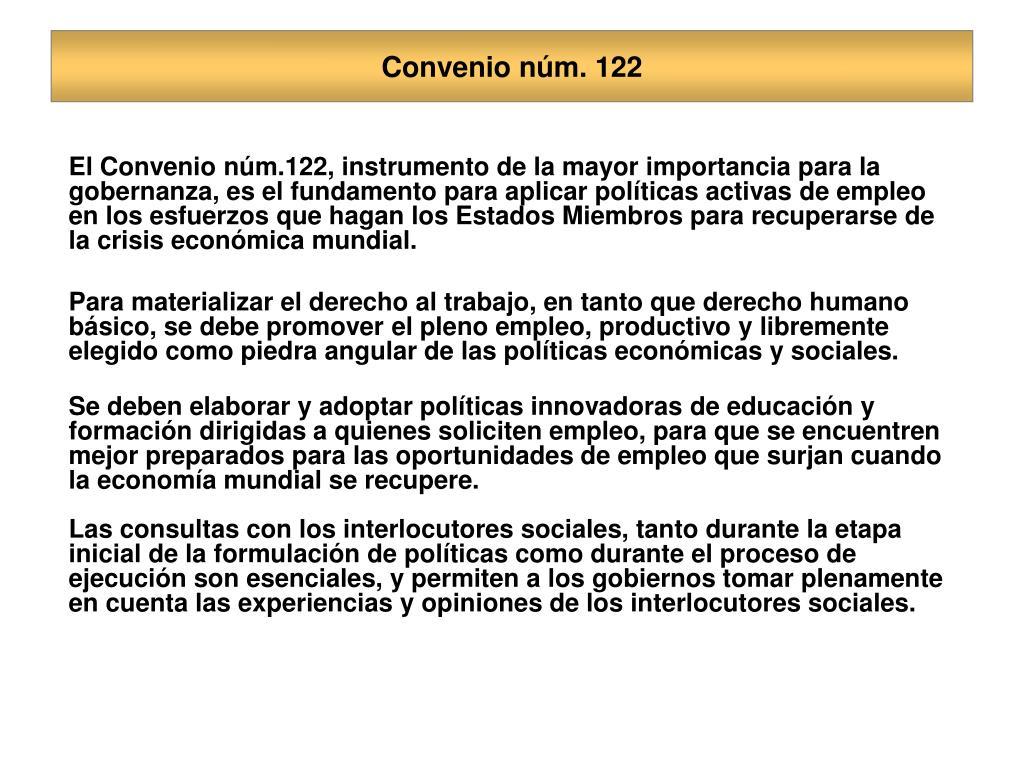 Convenio núm. 122