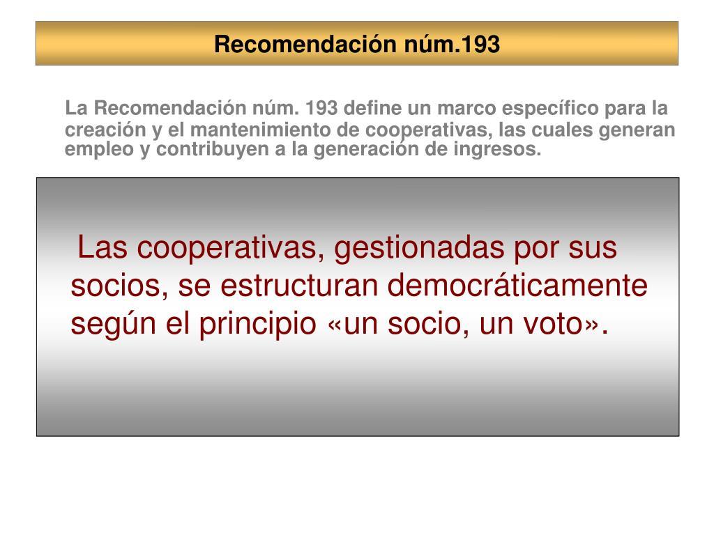 Recomendación núm.193