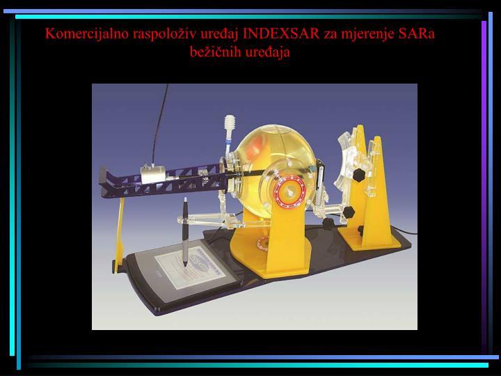 Komercijalno raspoloživ uređaj INDEXSAR za mjerenje SARa bežičnih uređaja