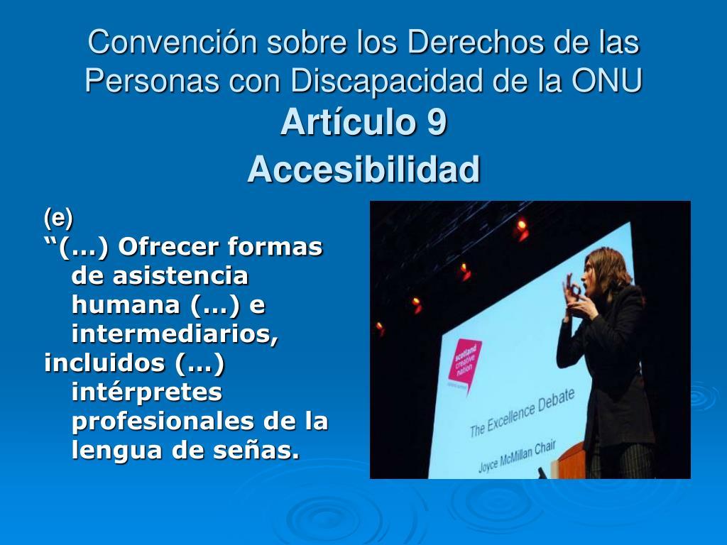 Convención sobre los Derechos de las Personas con Discapacidad de la ONU