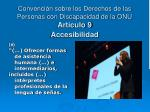 convenci n sobre los derechos de las personas con discapacidad de la onu art culo 9 accesibilidad