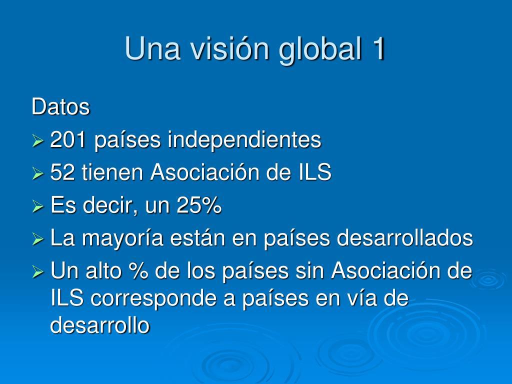 Una visión global 1
