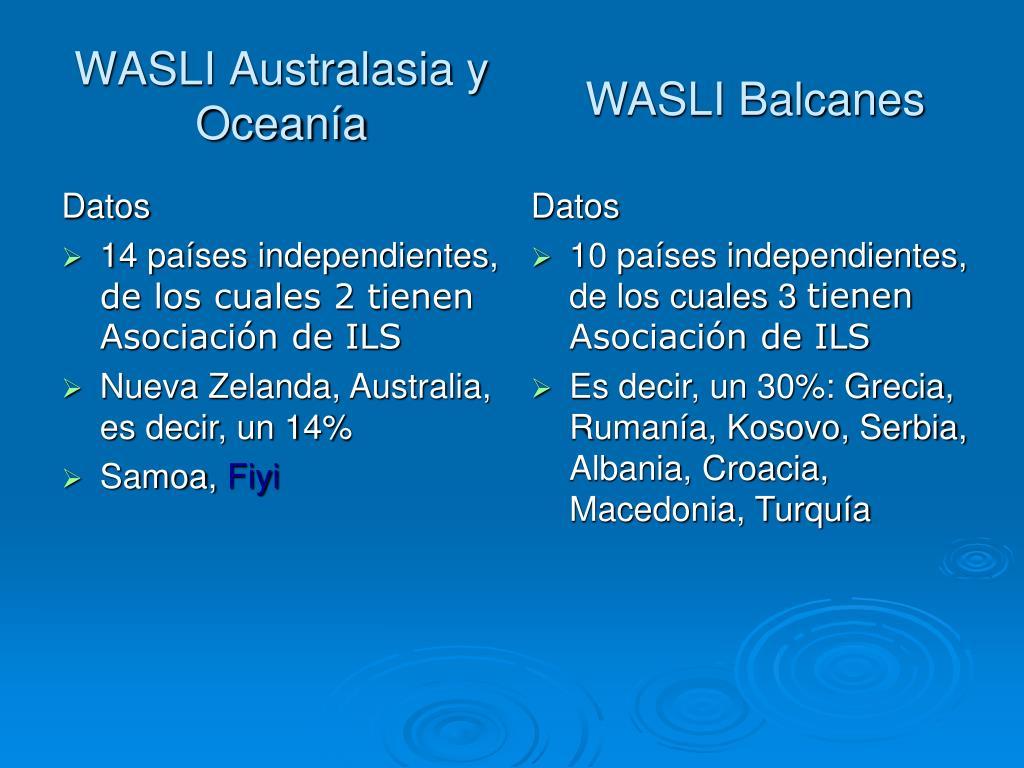 WASLI Australasia y Oceanía