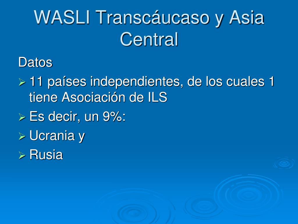 WASLI Transcáucaso y Asia Central