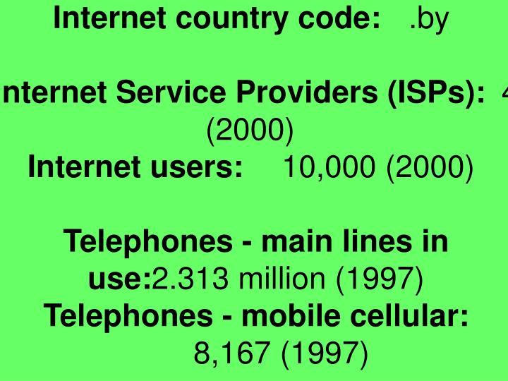 Internet country code: