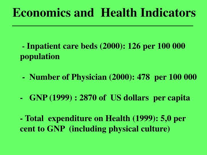Economics and  Health Indicators