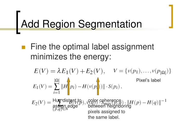Add Region Segmentation