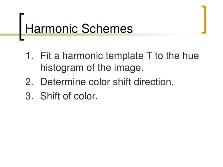 Harmonic Schemes