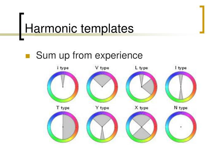 Harmonic templates