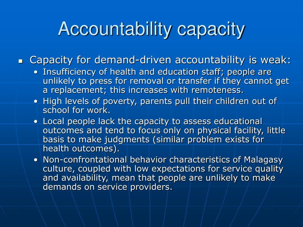 Accountability capacity