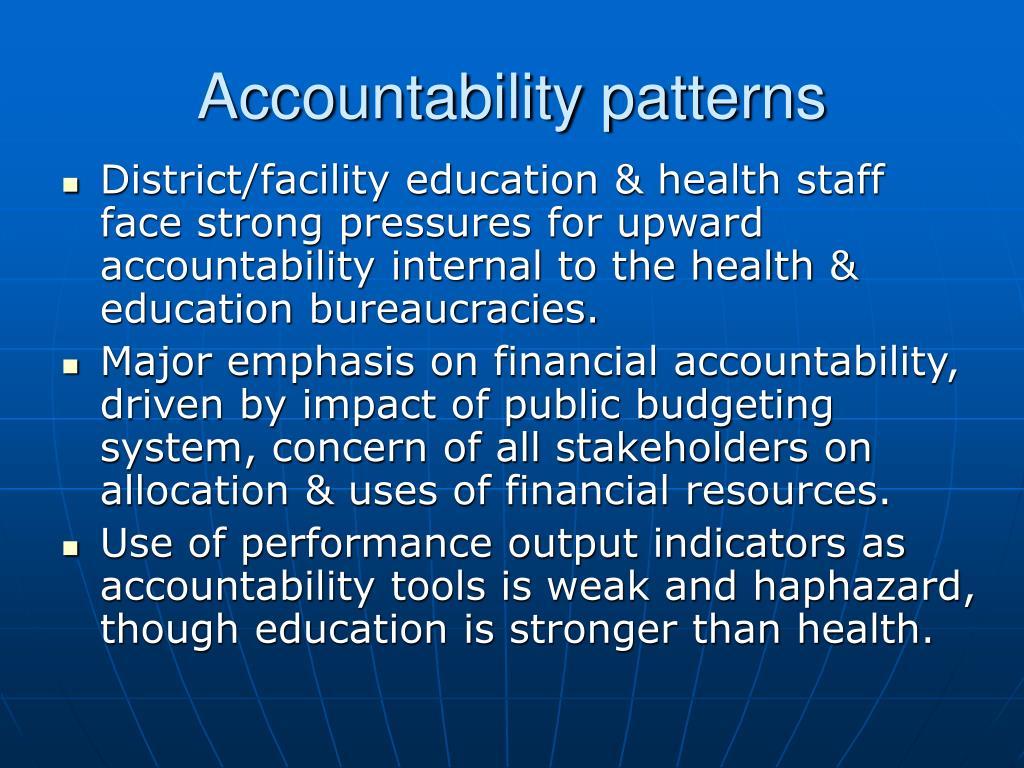 Accountability patterns