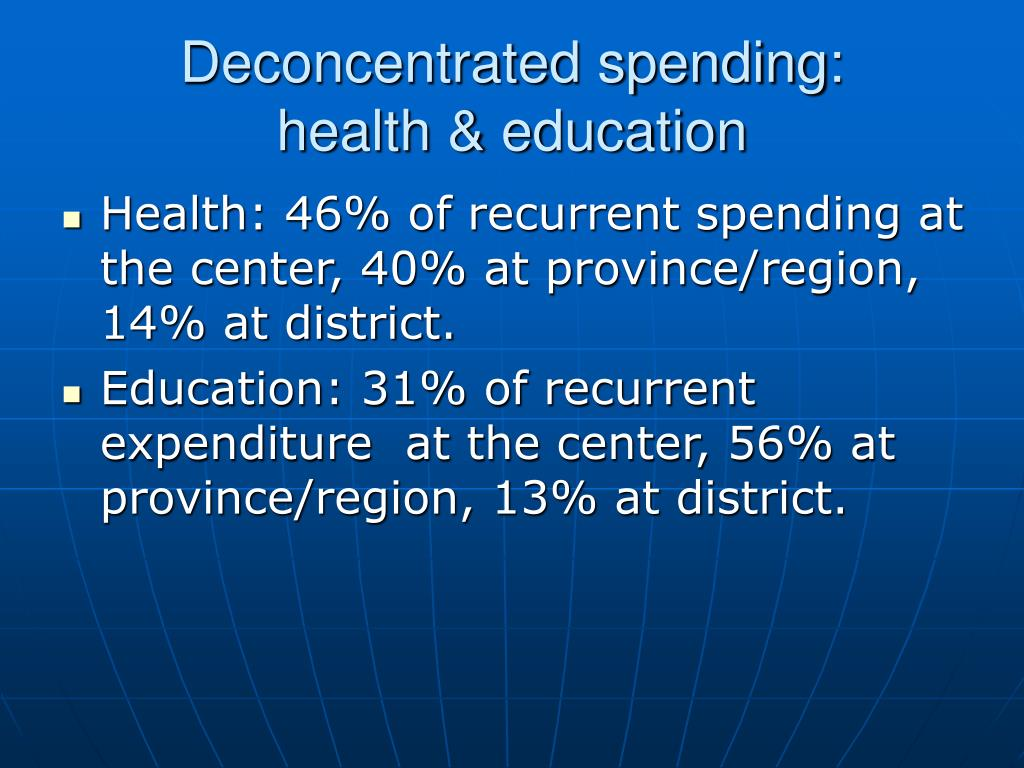 Deconcentrated spending: