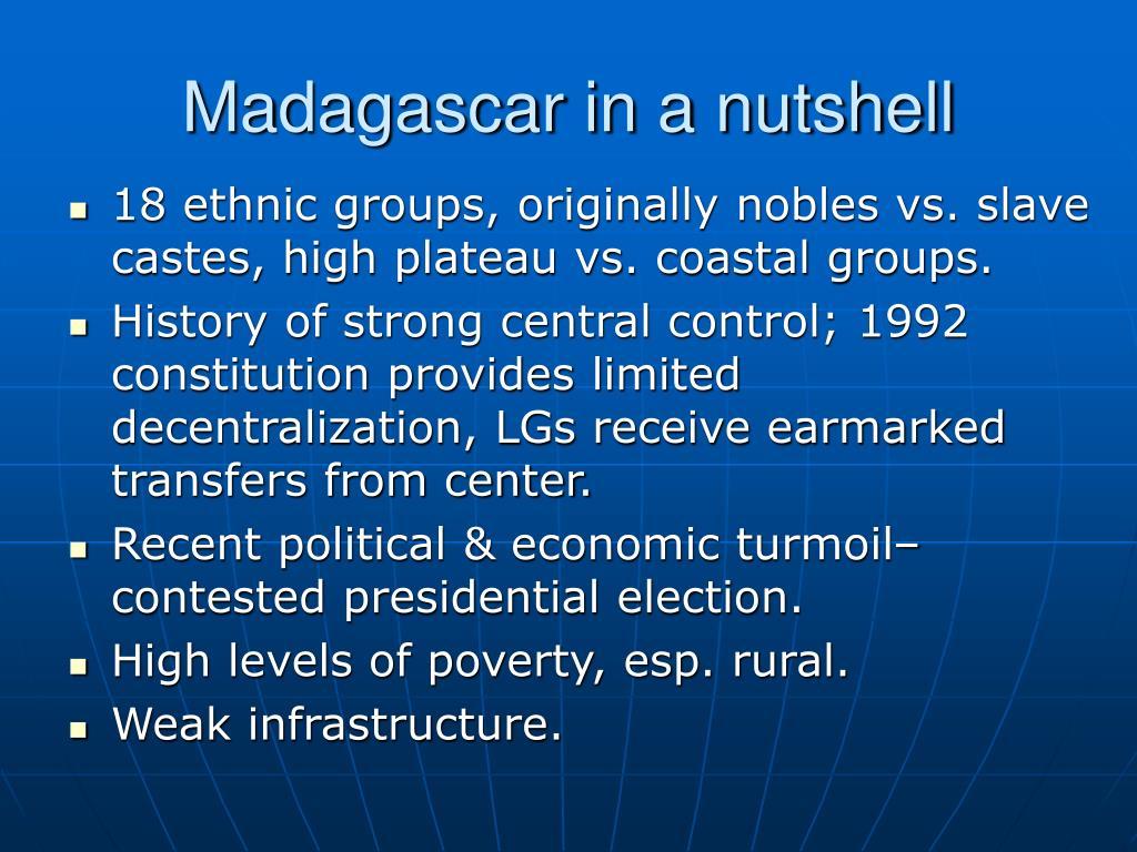 Madagascar in a nutshell