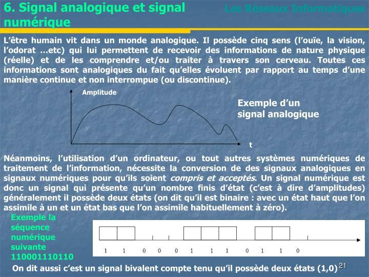 6. Signal analogique et signal numérique