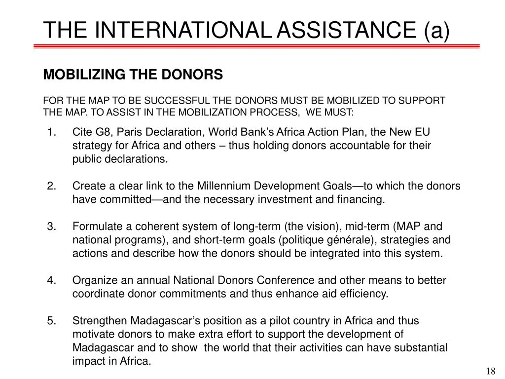 THE INTERNATIONAL ASSISTANCE (a)