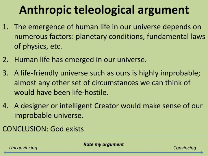 Anthropic teleological argument