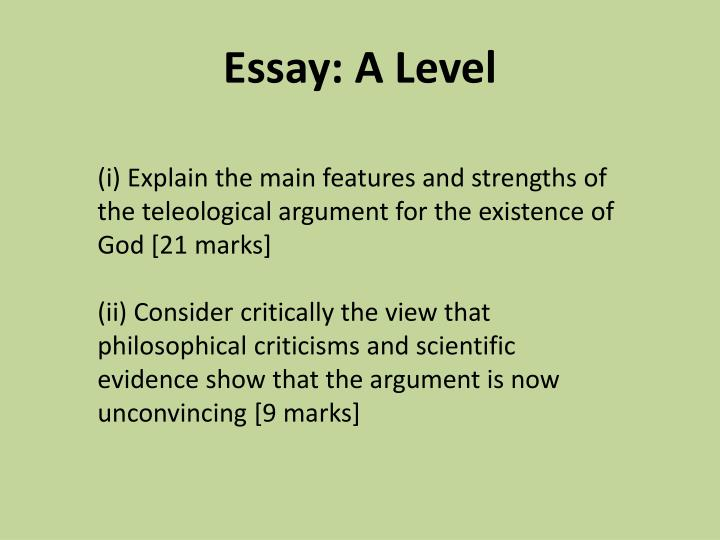 Essay: A Level