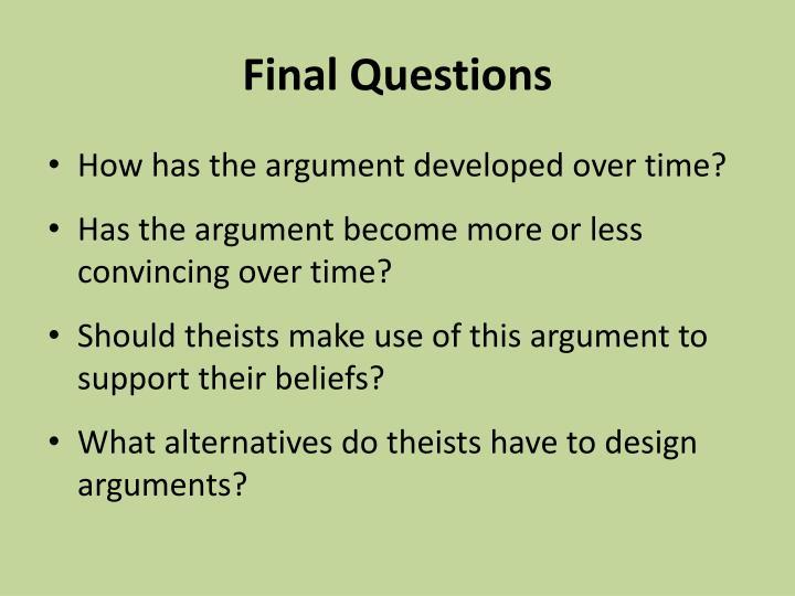 teleological argument essay questions