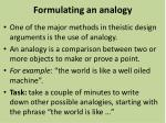 formulating an analogy