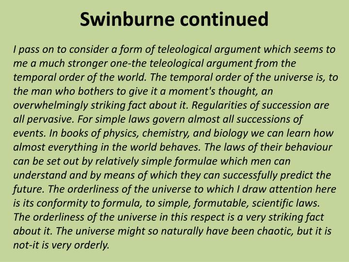 Swinburne continued