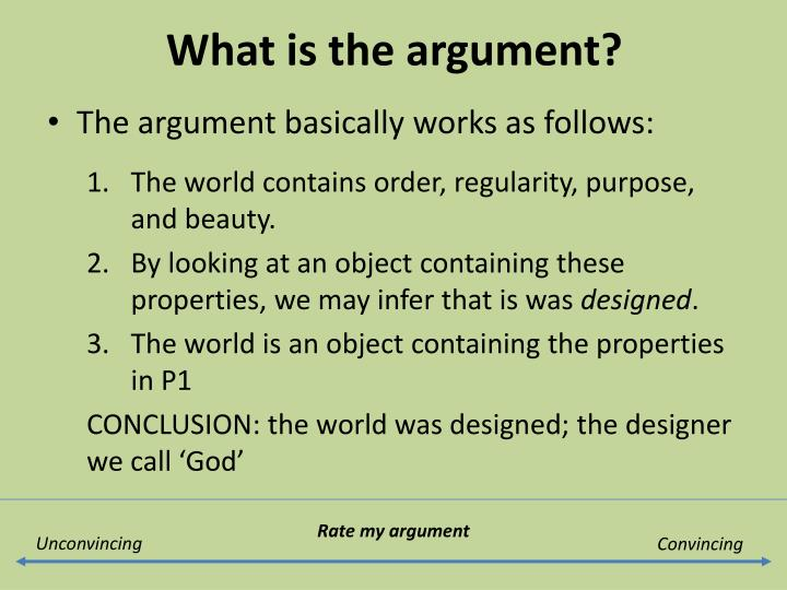 explain the teleological argument for the existence of god essay