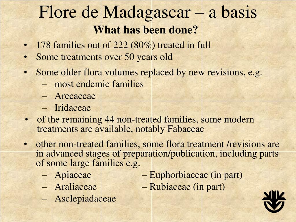 Flore de Madagascar – a basis