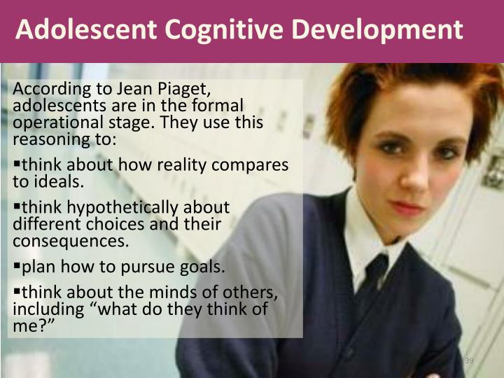 cognitive development according to piaget The scientist best known for research on cognitive development is jean piaget (see pages 72–75), who proposed that children's thinking goes through a set series of four major stages piaget believed that children's cognitive skills unfold naturally as they mature and explore their environment.