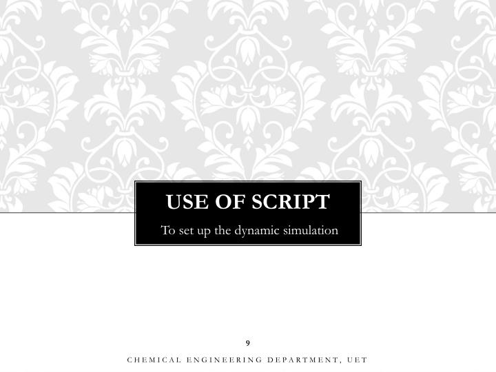 USE OF SCRIPT