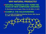 why natural products