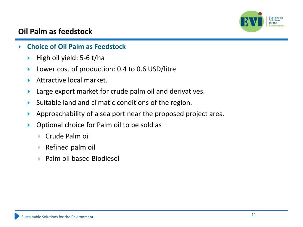 Oil Palm as feedstock