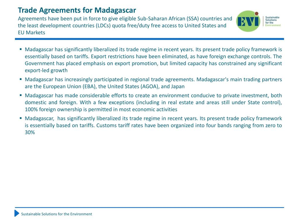 Trade Agreements for Madagascar