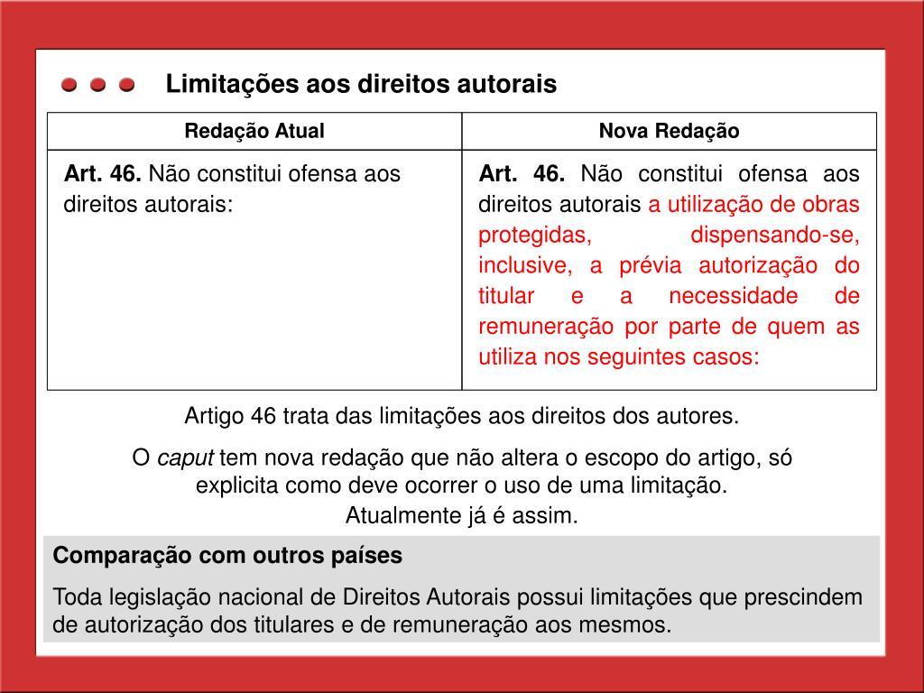 Limitações aos direitos autorais