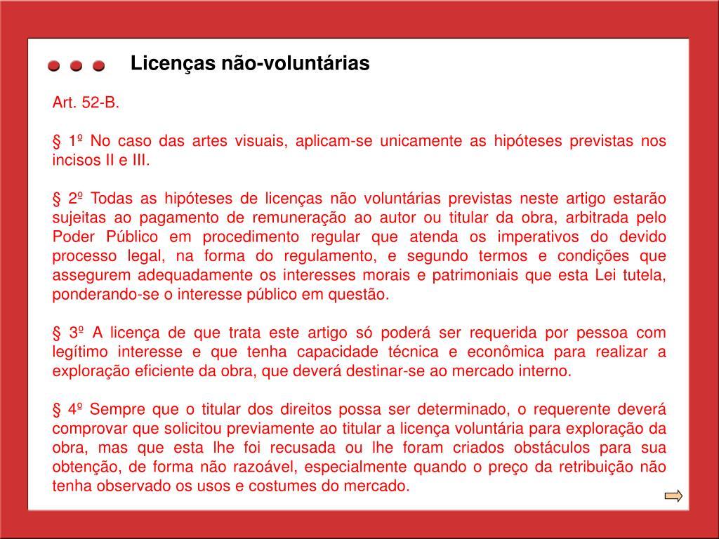 Licenças não-voluntárias