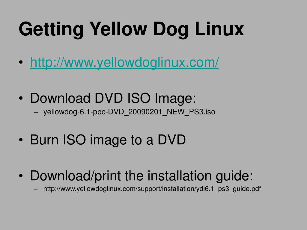 Getting Yellow Dog Linux
