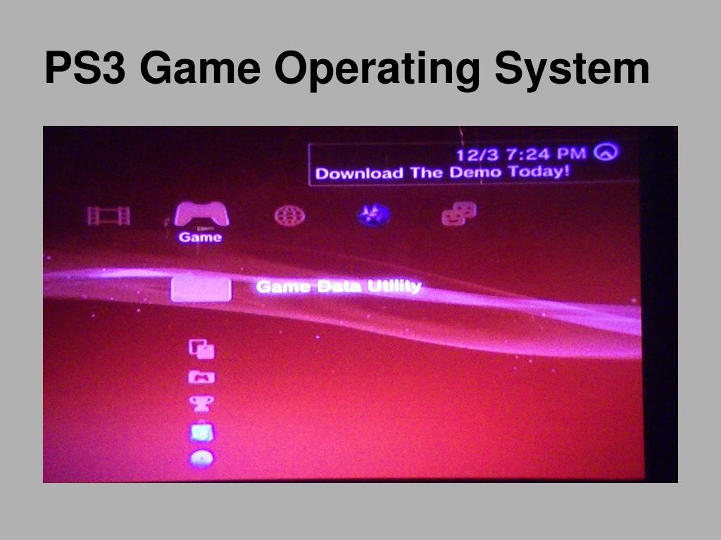 PS3 Game Operating System