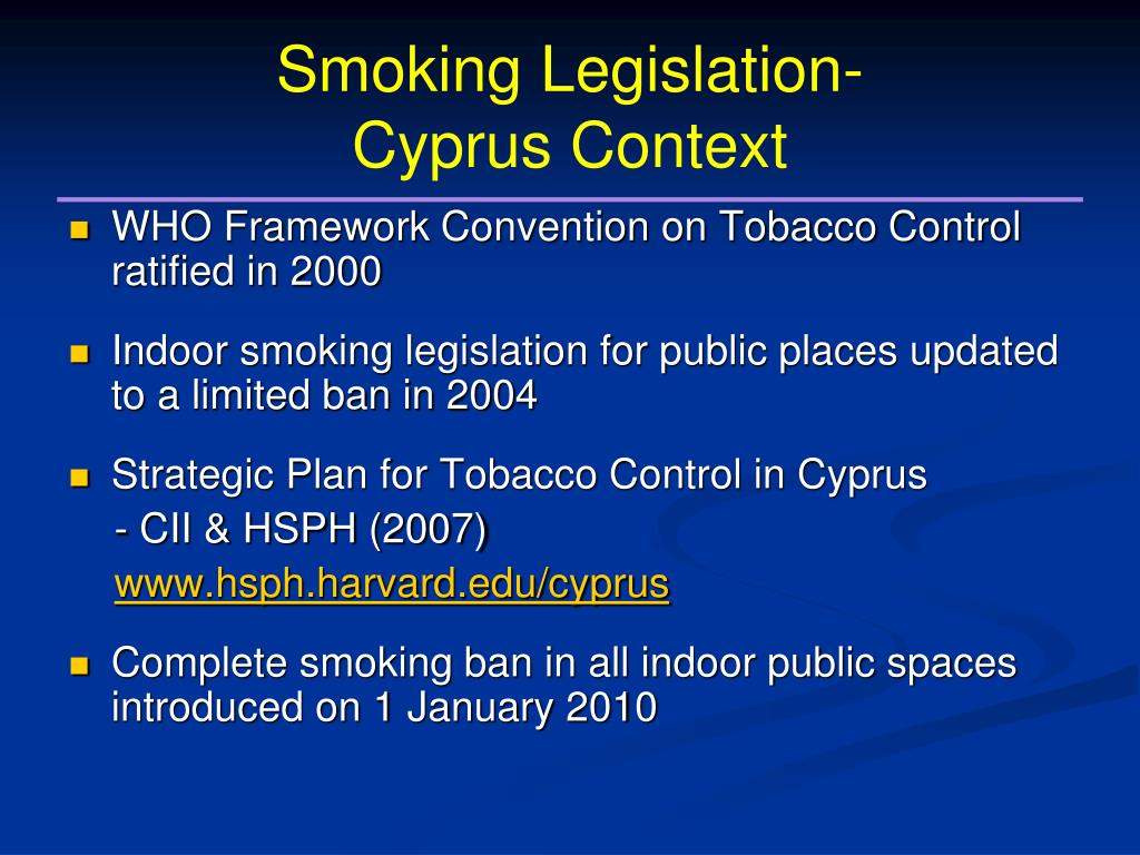Smoking Legislation-