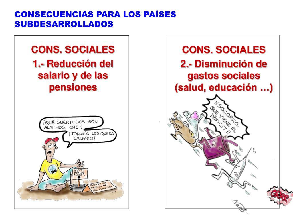 CONSECUENCIAS PARA LOS PAÍSES SUBDESARROLLADOS