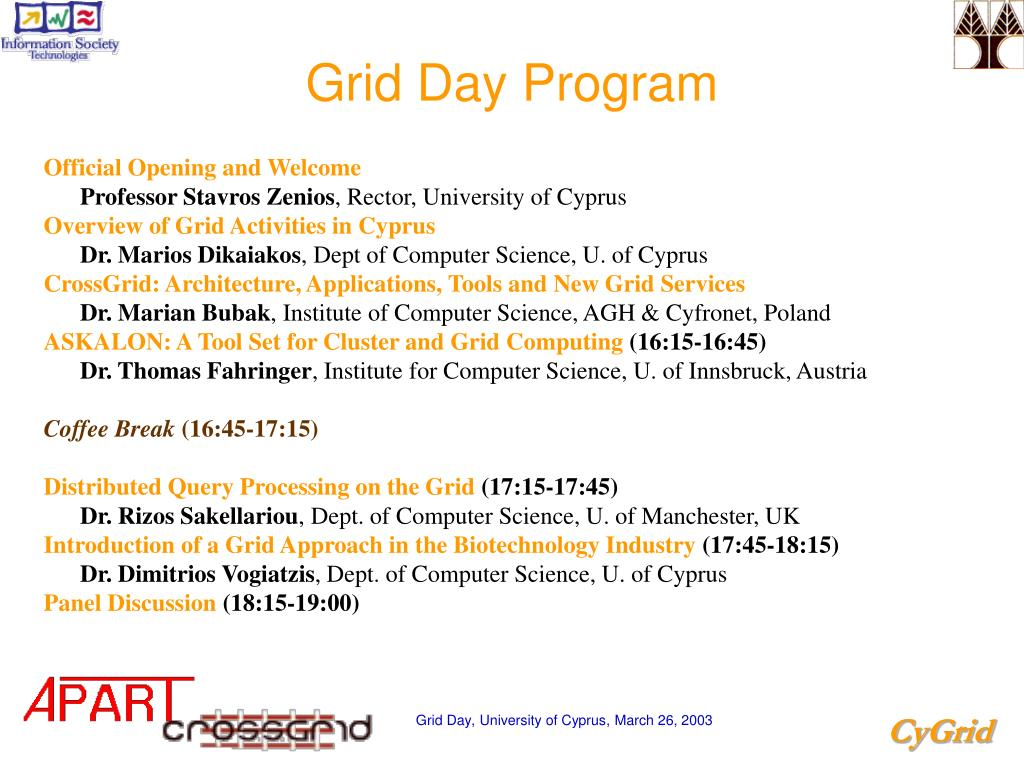 Grid Day Program