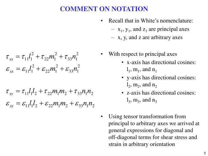 COMMENT ON NOTATION