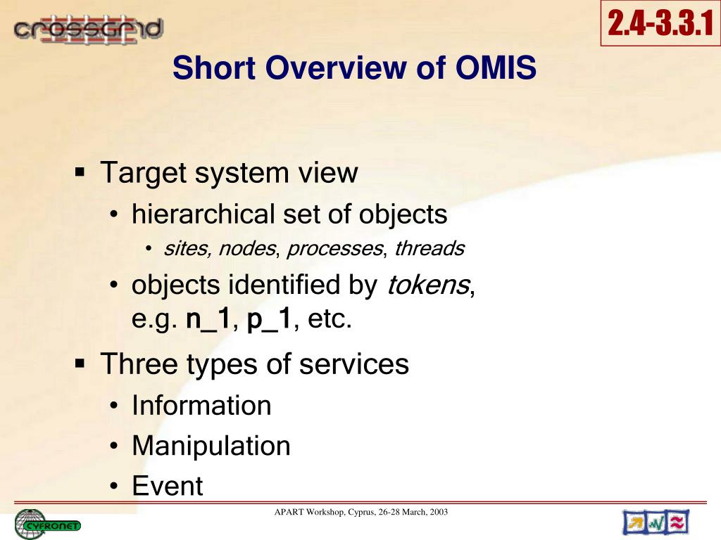 Short Overview of OMIS
