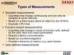 types of m easurements