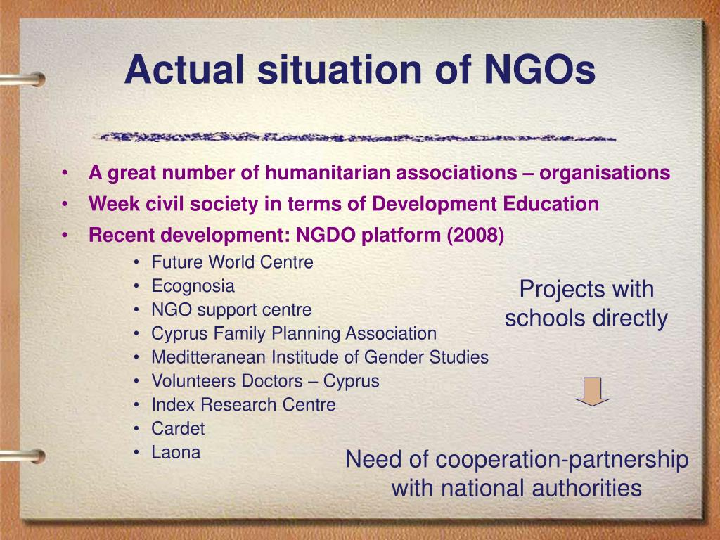 Actual situation of NGOs