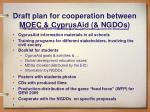 draft plan for cooperation between moec cyprusaid ngdos