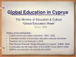 global education in cyprus