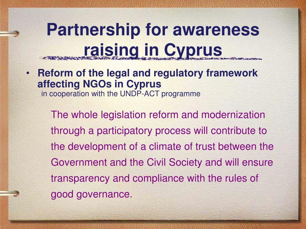 Partnership for awareness raising in Cyprus