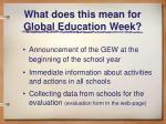 what does this mean for global education week